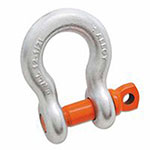 Campbell Alloy Anchor Galvanized Shackles, 7/8 in Bail Size, 9.5 Tons, Screw Pin Shackle