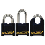 "CCL Super Sesamee Padlock 1"" shackle 7/16"" Dia Black"