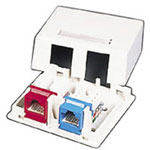 Cables To Go Premise Plus Surface Mount Box, Ivory
