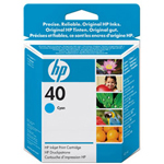 HP 51640C 40 Print Cartrid1 x Cyan 1600 Pages