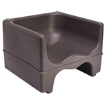 Cambro Dual Height Booster Seat, Dark Brown, 4 Pack