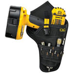 CLC Custom Leather Craft CORDLESS DRILL HOLSTER -MULTIPLE OUTER POCKETS