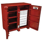 "Jobox Steel 2 Door Drawer Cab. 60.13x30.25"" x 60.75"