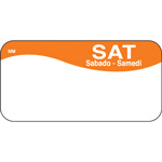 "Daymark MoveMark Day of the Week Food Safety Labels, 1""x2"",Saturday, Orange"