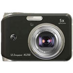 GE A1250 Digital Camera, Black