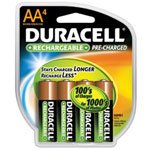 Duracell DX1500R4 Precharged Aa 4pack