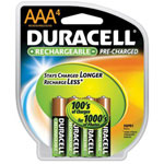Duracell DX2400R4 Precharged Aaa4 Pack