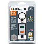 Centon DataStick Keychain Collegiate University Of Miami Edition - USB Flash Drive - 2 GB