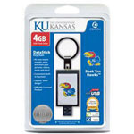Centon DataStick Keychain Collegiate University Of Kansas Edition - USB Flash Drive - 4 GB