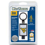 Centon DataStick Keychain Collegiate University Of West Virginia Edition - USB Flash Drive - 2 GB
