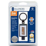 Centon DataStick Keychain Collegiate University Of Illinois - Champaign Edition - USB Flash Drive - 2 GB