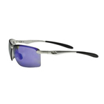 AO Safety Occ101 Safety Glasses Siver Aluminum Frame Blue Mirr
