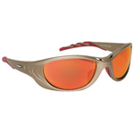 AO Safety Fuel 2 Metallic Sand Frame Safety Glasses Red Mi