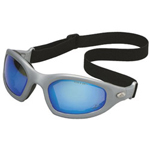 AO Safety Occ Dual Lens Dust/ Impact Goggle Silver Frame Bl