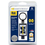 Centon DataStick Keychain Collegiate University Of Michigan Edition - USB Flash Drive - 4 GB