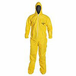 Extensis Tychem QC Coveralls with attached Hood and Socks, Serged Seams, 3XL