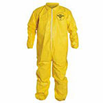 Extensis Tychem QC Coveralls with Elastic Wrists and Ankles, Serged Seams, XL