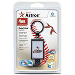 Centon DataStick Keychain MLB Houston Astros Edition - USB Flash Drive - 4 GB