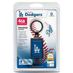 Centon DataStick Keychain MLB Los Angeles Dodgers Edition - USB Flash Drive - 4 GB
