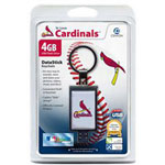 Centon DataStick Keychain MLB St. Louis Cardinals Edition - USB Flash Drive - 4 GB