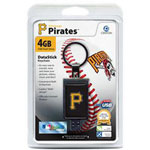 Centon DataStick Keychain MLB Pittsburgh Pirates Edition - USB Flash Drive - 4 GB