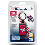 Centon DataStick Keychain MLB Washington Nationals Edition - USB Flash Drive - 4 GB