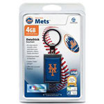 Centon DataStick Keychain MLB New York Mets Edition - USB Flash Drive - 4 GB