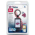 Centon DataStick Keychain MLB Minnesota Twins Edition - USB Flash Drive - 4 GB