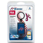 Centon DataStick Keychain MLB Atlanta Braves Edition - USB Flash Drive - 4 GB