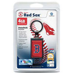 Centon DataStick Keychain MLB Boston Red Sox Edition - USB Flash Drive - 4 GB