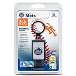 Centon DataStick Keychain MLB New York Mets Edition - USB Flash Drive - 2 GB