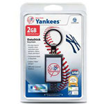 Centon DataStick Keychain MLB New York Yankees Edition - USB Flash Drive - 2 GB