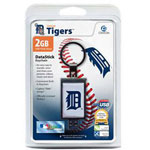 Centon DataStick Keychain MLB Detroit Tigers Edition - USB Flash Drive - 2 GB