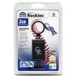Centon DataStick Keychain MLB Colorado Rockies Edition - USB Flash Drive - 2 GB