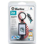 Centon DataStick Keychain MLB Florida Marlins Edition - USB Flash Drive - 2 GB