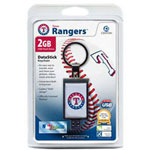 Centon DataStick Keychain MLB Texas Rangers Edition - USB Flash Drive - 2 GB