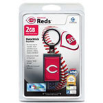 Centon DataStick Keychain MLB Cincinnati Reds Edition - USB Flash Drive - 2 GB