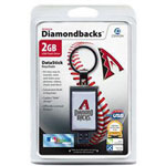 Centon DataStick Keychain MLB Arizona Diamondbacks Edition - USB Flash Drive - 2 GB