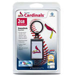Centon DataStick Keychain MLB St. Louis Cardinals Edition - USB Flash Drive - 2 GB