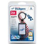 Centon DataStick Keychain MLB Los Angeles Dodgers Edition - USB Flash Drive - 2 GB