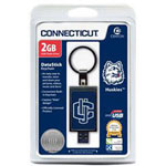 Centon DataStick Keychain Collegiate University Of Connecticut Edition - USB Flash Drive - 2 GB