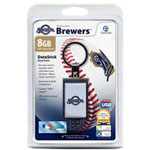 Centon DataStick Keychain MLB Milwaukee Brewers Edition - USB Flash Drive - 8 GB