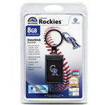 Centon DataStick Keychain MLB Colorado Rockies Edition - USB Flash Drive - 8 GB