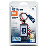 Centon DataStick Keychain MLB Detroit Tigers Edition - USB Flash Drive - 8 GB