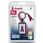 Centon DataStick Keychain MLB Los Angeles Angels Edition - USB Flash Drive - 8 GB