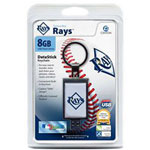 Centon DataStick Keychain MLB Tampa Bay Rays Edition - USB Flash Drive - 8 GB