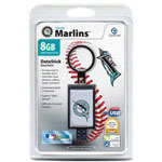 Centon DataStick Keychain MLB Florida Marlins Edition - USB Flash Drive - 8 GB