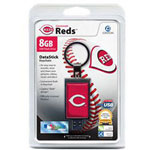 Centon DataStick Keychain MLB Cincinnati Reds Edition - USB Flash Drive - 8 GB