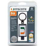 Centon DataStick Keychain Collegiate University Of Miami Edition - USB Flash Drive - 8 GB