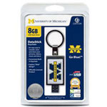 Centon DataStick Keychain Collegiate University Of Michigan Edition - USB Flash Drive - 8 GB